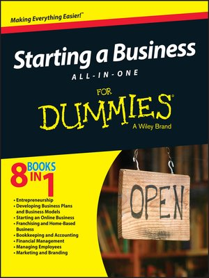 cover image of Starting a Business All-In-One For Dummies