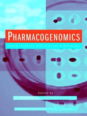 cover image of Pharmacogenomics