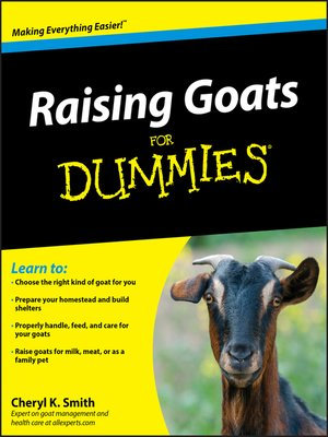 cover image of Raising Goats For Dummies