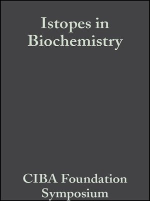 cover image of Isotopes in Biochemistry