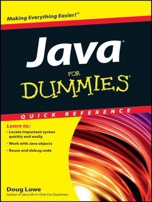 cover image of Java For Dummies Quick Reference