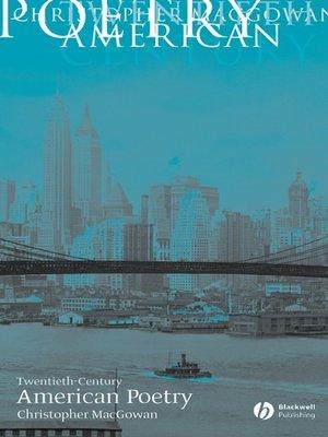 cover image of Twentieth-Century American Poetry