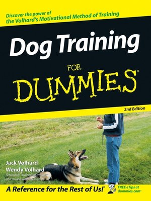 cover image of Dog Training For Dummies