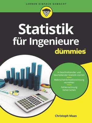 cover image of Statistik für Ingenieure für Dummies