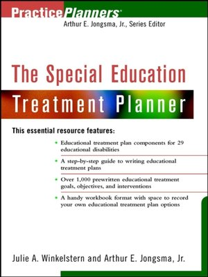 cover image of The Special Education Treatment Planner