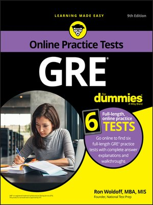 cover image of GRE For Dummies with Online Practice