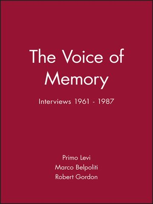 cover image of The Voice of Memory