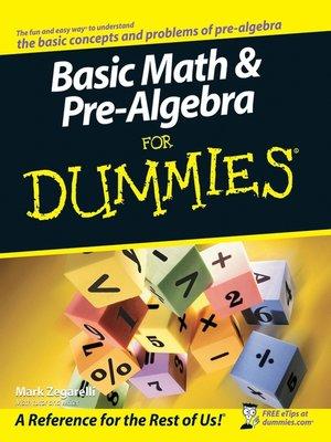 cover image of Basic Math & Pre-Algebra For Dummies