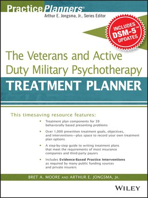 cover image of The Veterans and Active Duty Military Psychotherapy Treatment Planner, with DSM-5 Updates