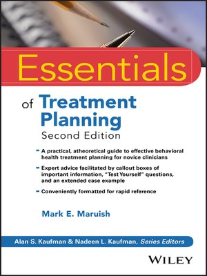 cover image of Essentials of Treatment Planning