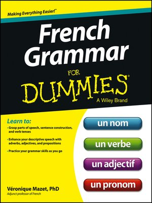 cover image of French Grammar For Dummies