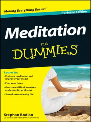 cover image of Meditation For Dummies