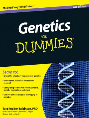 cover image of Genetics For Dummies