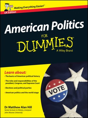 cover image of American Politics For Dummies
