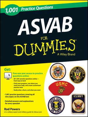 cover image of 1,001 ASVAB Practice Questions For Dummies (+ Free Online Practice)