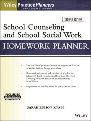 cover image of School Counseling and Social Work Homework Planner (W/ Download)