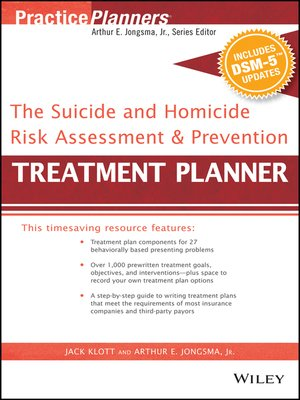 cover image of The Suicide and Homicide Risk Assessment and Prevention Treatment Planner, with DSM-5 Updates