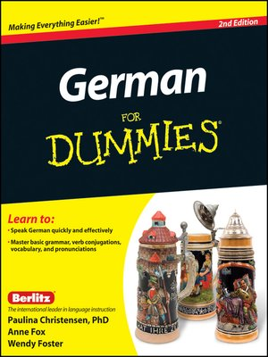 cover image of German For Dummies