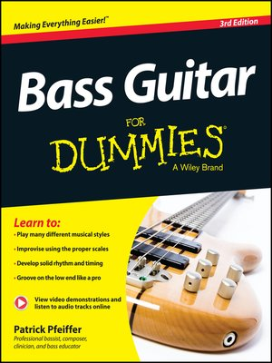 cover image of Bass Guitar For Dummies