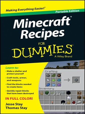 cover image of Minecraft Recipes For Dummies
