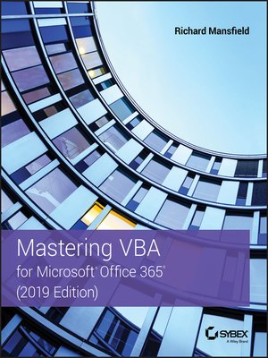 cover image of Mastering VBA for Microsoft Office 365