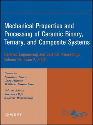 cover image of Mechanical Properties and Performance of Engineering Ceramics and Composites IV