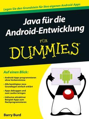 cover image of Java für die Android-Entwicklung für Dummies