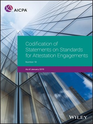 cover image of Codification of Statements on Standards for Attestation Engagements, January 2019