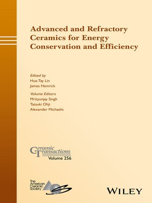 cover image of Advanced and Refractory Ceramics for Energy Conservation and Efficiency