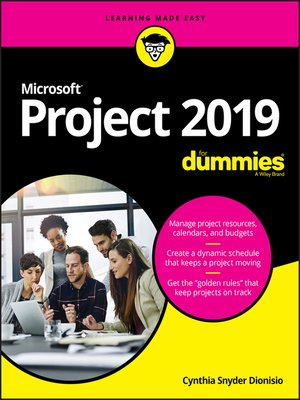 cover image of Microsoft Project 2019 For Dummies