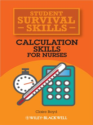 cover image of Calculation Skills for Nurses