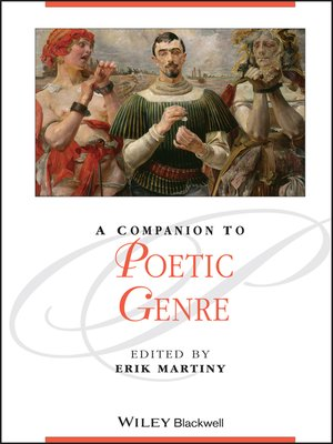 cover image of A Companion to Poetic Genre