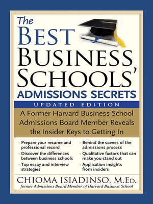cover image of The Best Business Schools' Admissions Secrets