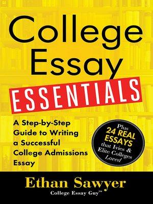 cover image of College Essay Essentials