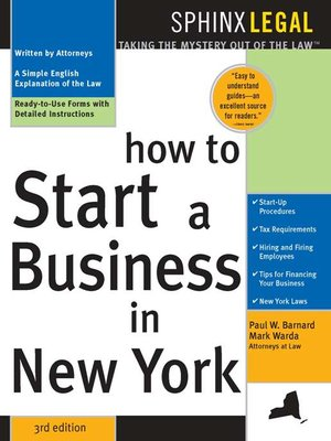 How To Start A Business In New York 3rd Edition Legal Survival Guides