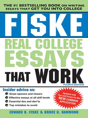 cover image of Fiske Real College Essays That Work