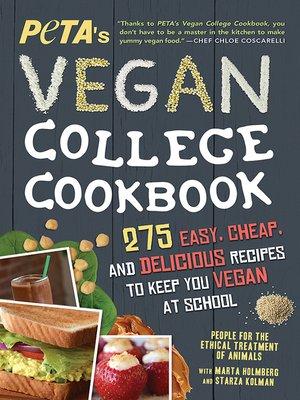 cover image of PETA'S Vegan College Cookbook