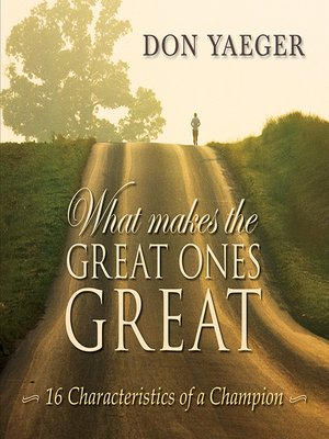 cover image of What Makes the Great Ones Great