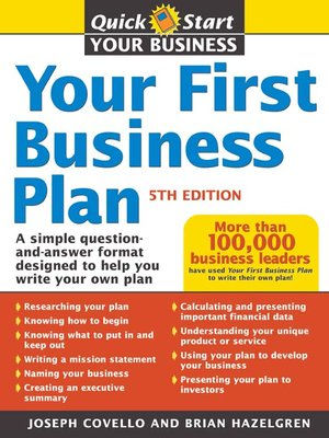 cover image of Your First Business Plan