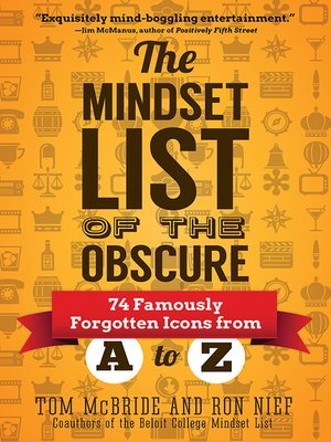 cover image of The Mindset List of the Obscure