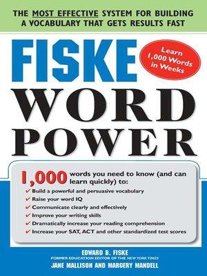 cover image of Fiske WordPower