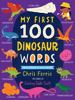 cover image of My First 100 Dinosaur Words