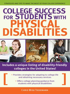 cover image of College Success for Students with Physical Disabilities