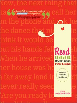 cover image of Read, Remember, Recommend for Teens