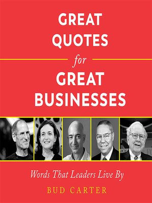 cover image of Great Quotes for Great Businesses