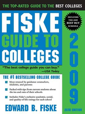 cover image of Fiske Guide to Colleges 2009