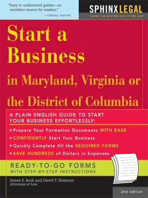 Start A Business In Maryland Legal Survival Guides Series