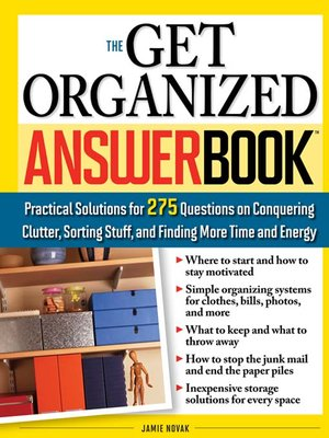 cover image of The Get Organized Answer Book