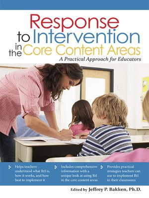 cover image of Response to Intervention in the Core Content Areas
