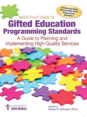 cover image of NAGC Pre-K–Grade 12 Gifted Education Programming Standards